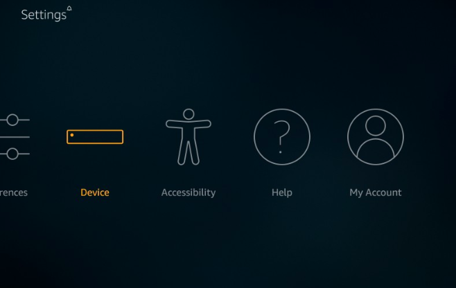device settings of firestick
