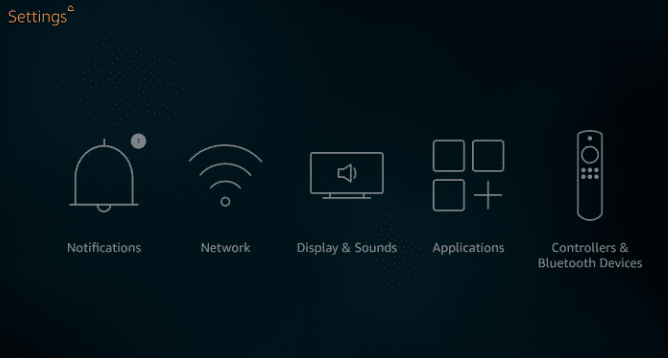 settings of fire tv